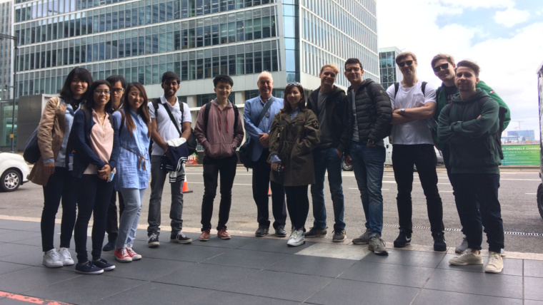 Students from Imperial College on our Canary Wharf Tour.