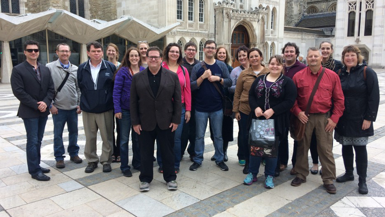 A group of Finance professionals on our City of London Finance Tour in front of Guildhall.