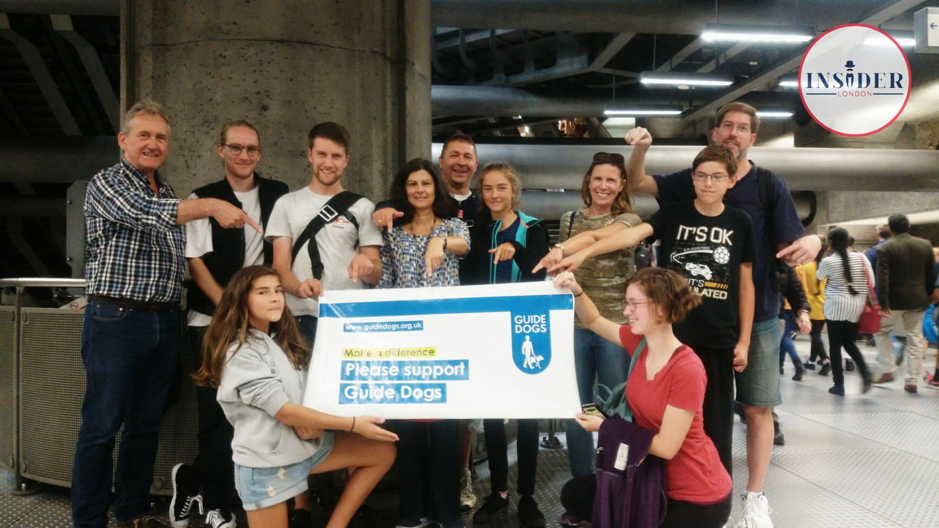Our Tube tour guests from Saturday ask you to support Guide Dogs!
