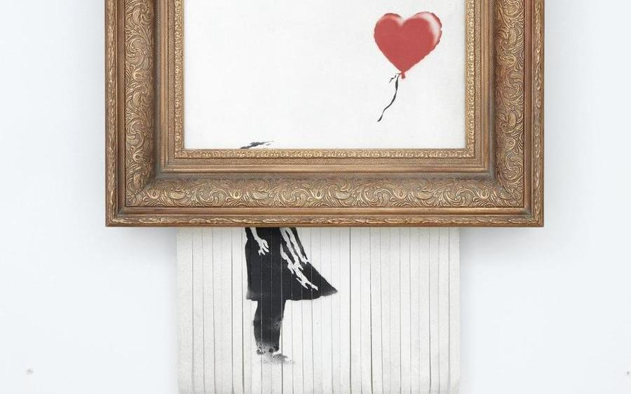 banksy shredder