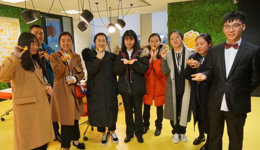 Chinese students visiting LEGO's London Hub and discovering LEGO Serious Play