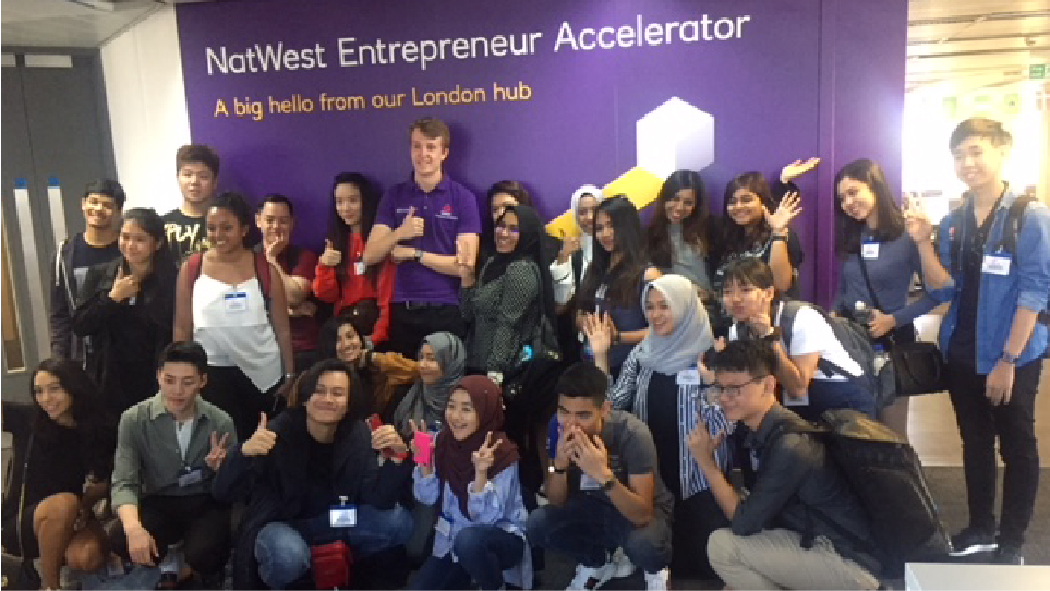 A group of students on one of our Natwest business vistits