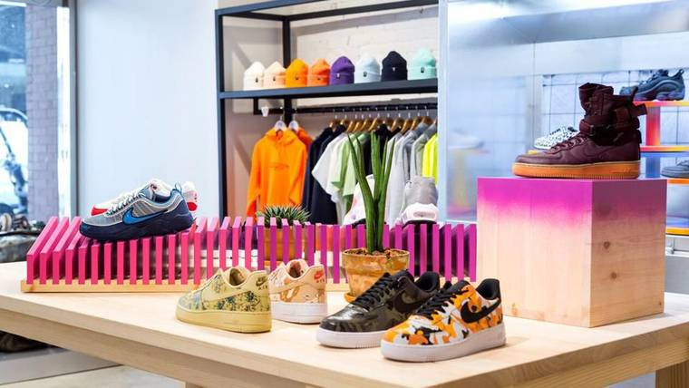 Interior shot of the NYC sneakernstuff store