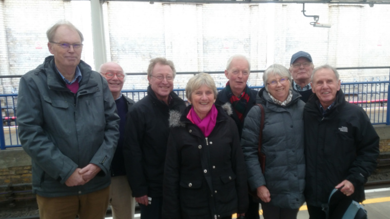 A group from the University of the 3rd Age, with us on a private bespoke London Underground Tour.