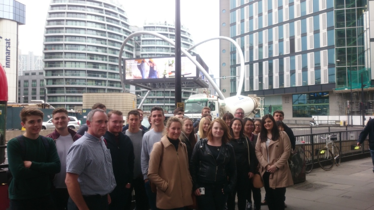 Starting our Silicon Roundabout in front of the Roundabout itself!