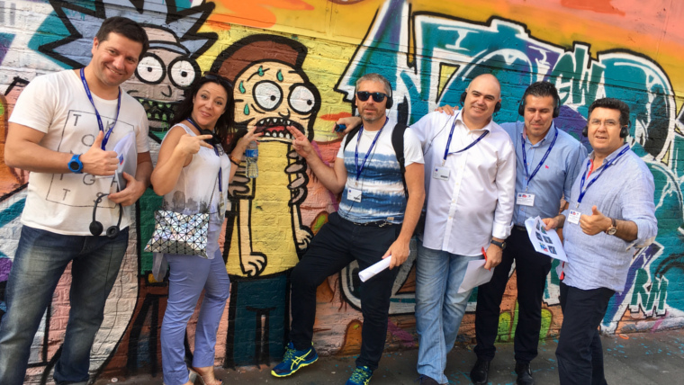 Carrefour Executives on London Business School's training programme on our London Street Art Tour!