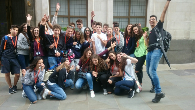 Language students from Italy on our West End Retail Design tour in Air Street.