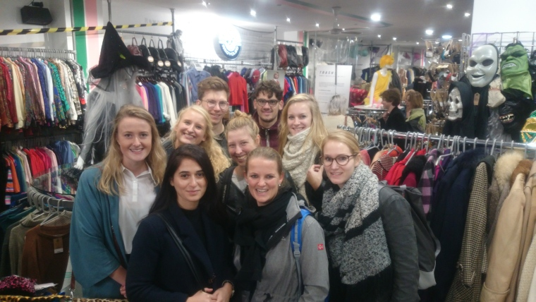 Students visiting Rokit in Covent Garden on our Cutting Edge Green Tour - cutting down on fashion waste is desperately needed!
