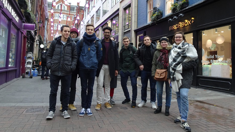 Students from Lille, France, on our West End Retail Design tour in Carnaby Street.