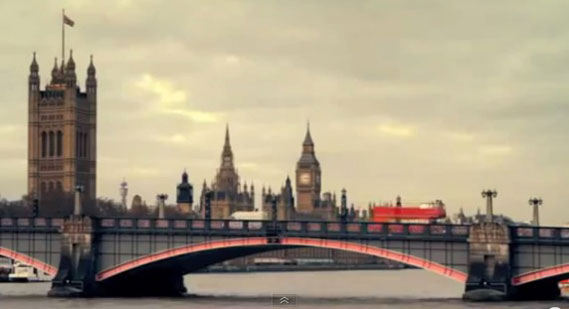 Lambeth Bridge, London – for One Direction's 'One Thing' video