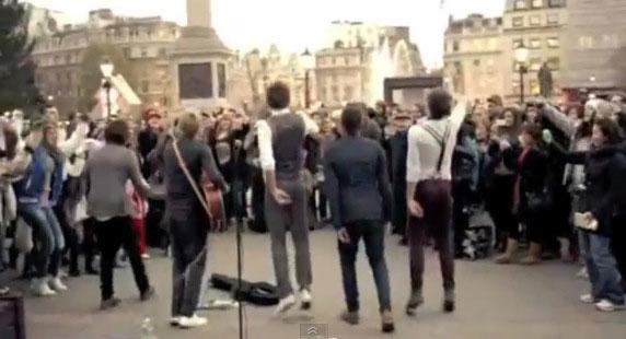 One Direction in Trafalgar Square, London