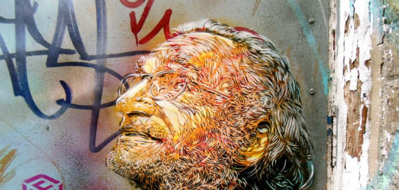 Bukowski, C215, Eastend street art Insider London, walking tours