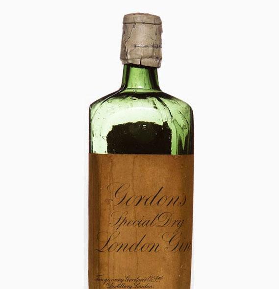 An early Gordon's gin bottle