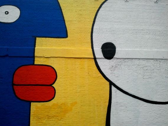 street art, Insider London, Stik, Village Underground, Thierry Noir