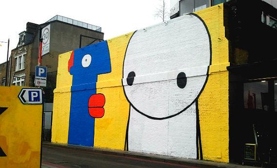 street art, walking tours, Village Underground, Stik, Thierry Noir