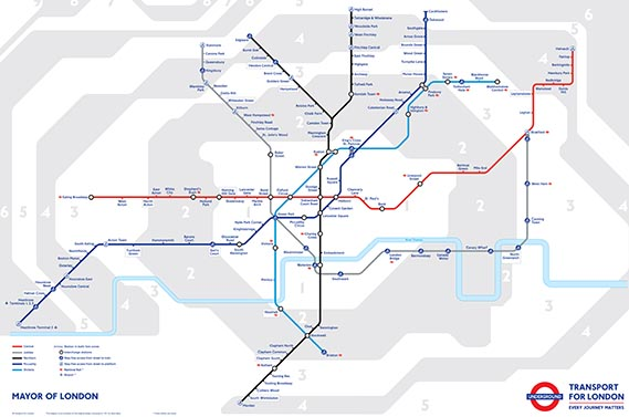The London Underground Tube Night Map 2014