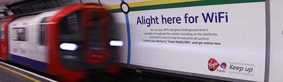 The London Underground Tube Free Wi-Fi 2014
