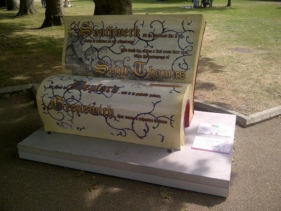 Canterbury Tales book bench walking tour
