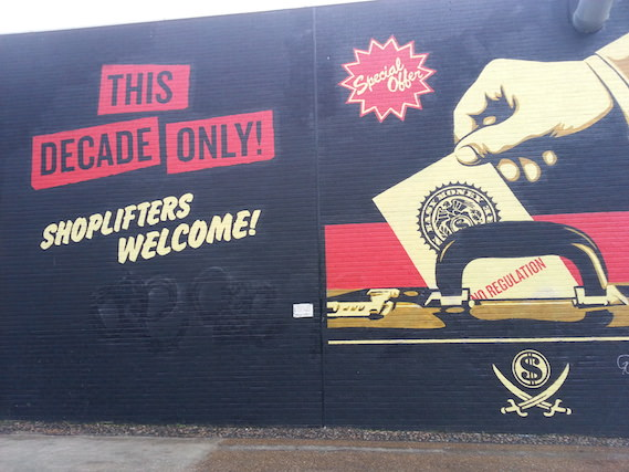 Shepard Fairey street art tour london