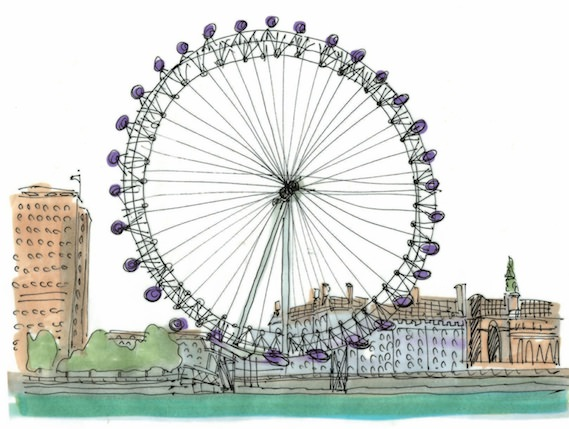London Eye alternative London illustration