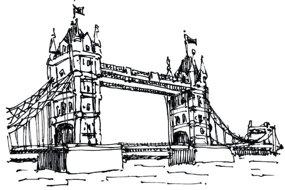 Tower Bridge London illustration