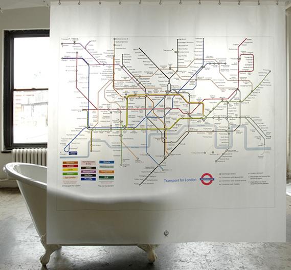 London tube map shower curtain