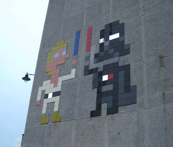 Invader street art picture London walking tour