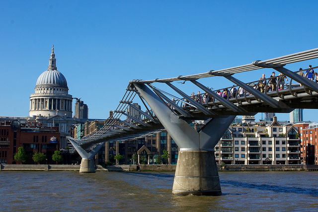 Millenium bridge london architecture
