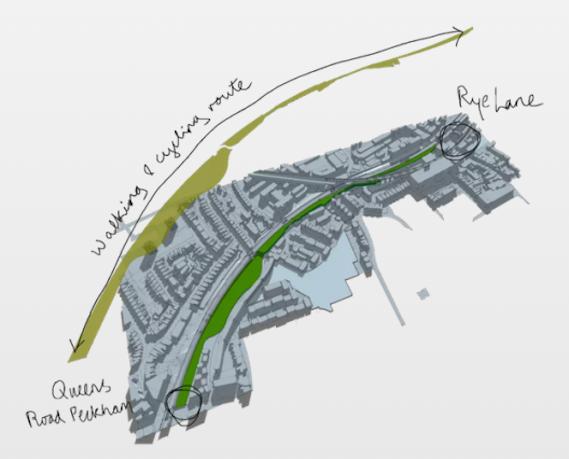 Peckham coal line green