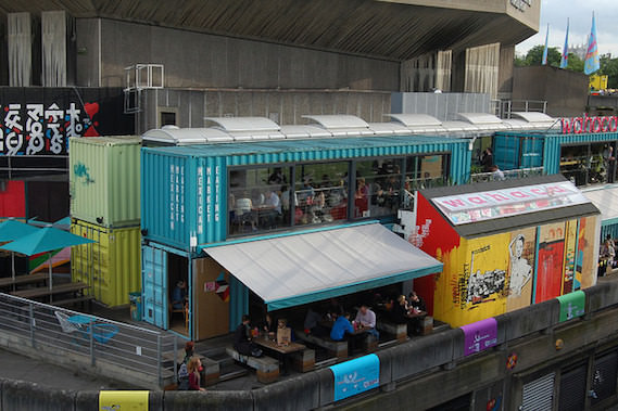 shipping container restaurant alternative London