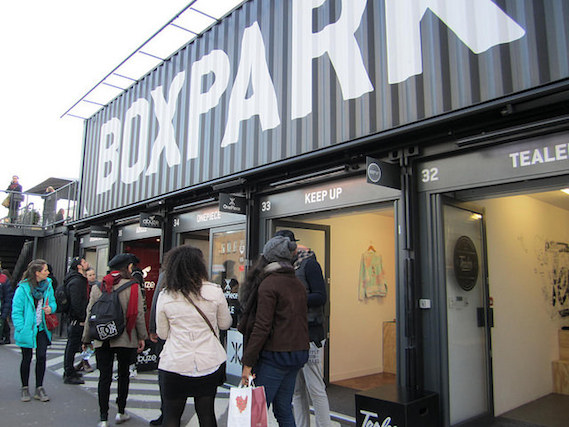 boxpark shoreditch shipping container shops